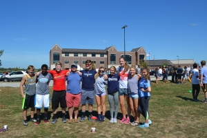 The House of Sebastian's Tug-of-War team gathers for a picture after winning the competition. Photo courtesy of Madelynn Harvey.