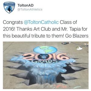 2016 Graduation Tweet