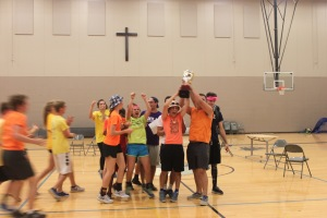 Members of the House of Blaise celebrate their victory as winners of the House Cup. Photo by Jake Brannon.